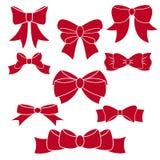 Set czerwoni łęki Zdjęcie Royalty Free