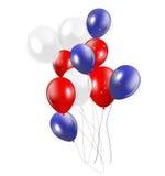 Set Czerwoni balony, Wektorowa ilustracja Obrazy Royalty Free