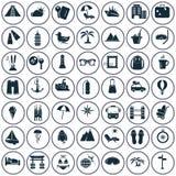 Set czterdzieści dziewięć mostownic ikon Obraz Royalty Free