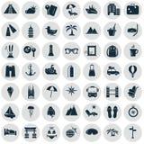 Set czterdzieści dziewięć mostownic ikon Obrazy Stock