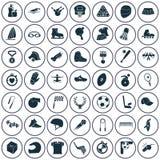 Set czterdzieści dziewięć sportów ikon Zdjęcia Stock
