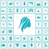 Set czterdzieści piękno ikon Zdjęcie Royalty Free