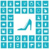 Set czterdzieści piękno ikon Obrazy Royalty Free