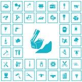 Set czterdzieści budów ikon Zdjęcia Royalty Free