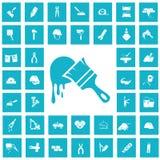 Set czterdzieści budów ikon Obrazy Royalty Free