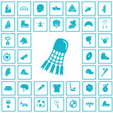 Set czterdzieści sportów ikon Obrazy Stock