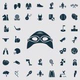 Set czterdzieści sportów ikon Zdjęcia Stock