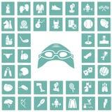 Set czterdzieści sportów ikon Obraz Stock