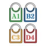 Set cztery barwiącej etykietki Zdjęcie Royalty Free