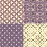 Set cztery bezszwowego abstrakta wzoru Zdjęcie Royalty Free