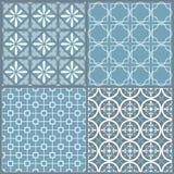 Set cztery bezszwowy geometryczny wzór Obraz Stock