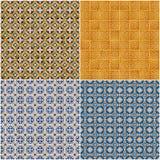Set cztery ceramicznych płytek wzoru Zdjęcie Royalty Free