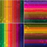Set cztery Colourful kreskowy tło. Obraz Royalty Free