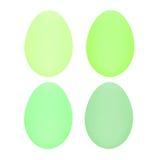 Set cztery Easter jajka odizolowywającego na białym tle dla projekta Obrazy Stock