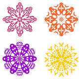 Set cztery geometrycznego ornamentu Fotografia Stock