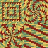 Set cztery geometryczny wzór Fotografia Stock
