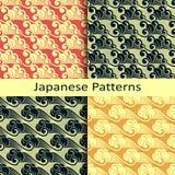 Set cztery japońskiego wzoru Obrazy Royalty Free