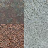 Set cztery kamiennej tekstury obrazy royalty free