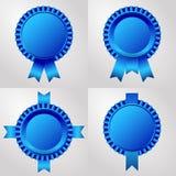 Set cztery nasadki z faborkami i błękitem ilustracji