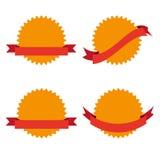 Set cztery odznaki Zdjęcia Royalty Free