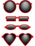 Set Cztery Okulary przeciwsłoneczne Obrazy Royalty Free