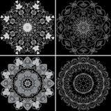 Set cztery ornamentacyjny wzór Zdjęcia Stock