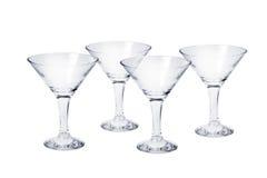 Set cztery pustego koktajlu szkła Fotografia Stock