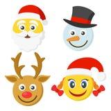 Set cztery smileys dla nowego roku Zdjęcie Stock
