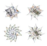 Set Cztery Sto Dolarowego Bill ikony grafiki fotografie Fotografia Royalty Free