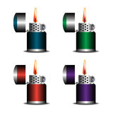 Set cztery zapalniczki Obraz Stock