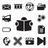 Set czytanie, Następny, odtwarzacz wideo, Mnoży Notepad, Na całym świecie, royalty ilustracja