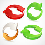 Set of 3d arrows icons. Vector illustration of 3d arrows Royalty Free Stock Photography