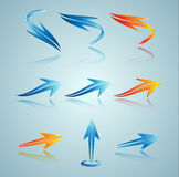 Set of 3D arrows. Stock Photography