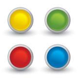 Set 3D barwiący guziki z cieniem Fotografia Stock
