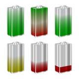 Set of 3d batteries. Vector illustration isolated on white background. A set of 3d batteries. Vector illustration isolated on white background Stock Image