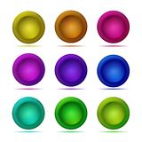 Set of 3d button. Matted icon for web. Vector design round tablet. Set of 3d button. Matted icon for web. Vector design round tablet Royalty Free Stock Images