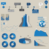 Set of the 3d charts Royalty Free Stock Image