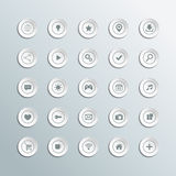 Set of 3d circle icons for workflow layout, diagram and web design on gray background. Stock Photos