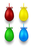 Set of 3D color eggs for Easter Stock Photos