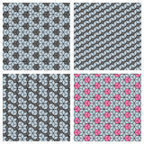 Set of 3d cube seamless patterns Royalty Free Stock Photos