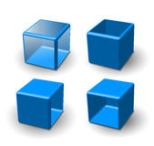 Set of 3d cube Royalty Free Stock Photos