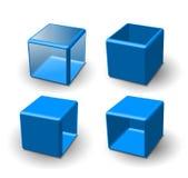 Set of 3d cube Royalty Free Stock Photos