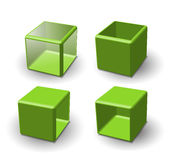 Set of 3d cube Royalty Free Stock Image