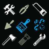 Set of 3d detailed tools, vector repair theme graphic elements Stock Photography