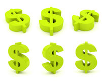 Set of 3D dollar sign Stock Image