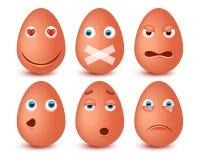 Set of 3d Easter eggs emoticons. Smileys emoticons.Vector image. Set of 3d Easter eggs emoticons. Smileys emoticons. Isolated vector image Stock Photography