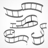 Set of 3d film strips Royalty Free Stock Photography