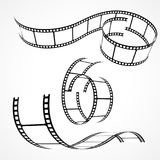 Set of 3d film strips Stock Image