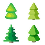 Set of 3d fir trees. On a white background Royalty Free Stock Photography