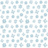 Set of 3D hand drawn snowflakes. Christmas seamless pattern. Vector illustration. Cute decorative ornament royalty free illustration